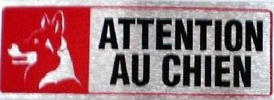 ATTENTION AU CHIEN French Beware of Dog Sticker Decal Sign NEW Imported FRANCE