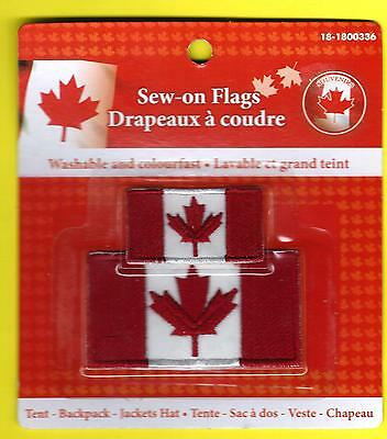 2 New Canada (Canadian) Flag Patches / Badges !