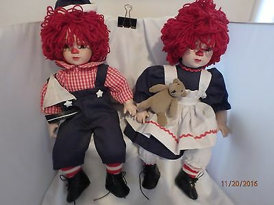 Porcelain Raggedy Ann And Andy Dolls