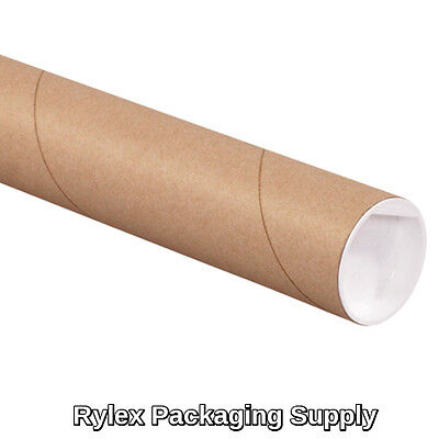 50 2x15 Kraft Mailing Shipping Packing Tubes Document Poster Blueprints