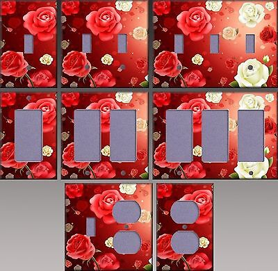 Roses Wall Decor Light Switch Plate Cover