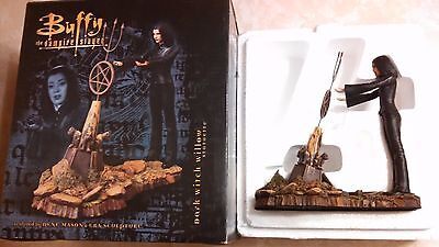 """2004 Buffy The Vampire Slayer Dark Witch Willow Statuette 7"""" With COA 1276/3000"""