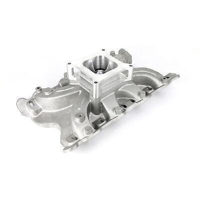 """Ford 302 351C Cleveland 2V Torque Low Rise Intake Manifold w/2"""" Spacer"""