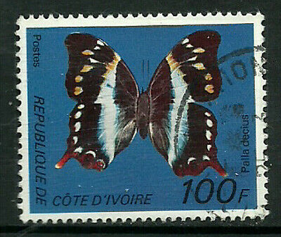 Ivory Coast #446D Used Stamp - Butterfly (a)