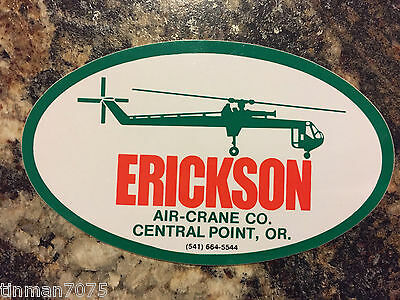 Erickson Air-Crane Sikorsky S-64 Helicopter Heavy Lift Sticker