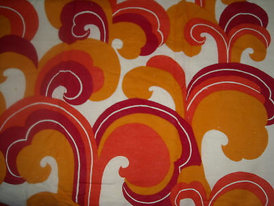 Vintage 60s Sweden Funky Curtain drape Fabric