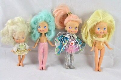 4 Moon Dreamers Dolls Sparky Whimzee Star Finder Gazer Bitsy Hasbro 1986 Vinyl