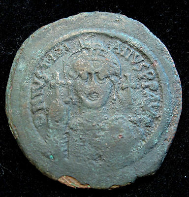 Justinian I - AE Follis 40mm  VF !!