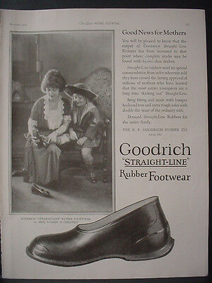 1922 Goodrich Rubber Footwear Shoes Full Page Vintage Print Ad 12033