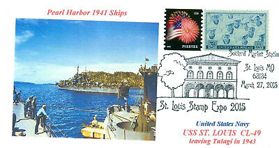USS ST. LOUIS CL-49 Cruiser: Pearl Harbor 1941 Ship Naval Missouri, Pictorial PM