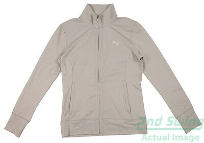New Womens Puma Thermal Isulated Warm Track Golf Jacket SM Gray 569081 MSRP $75
