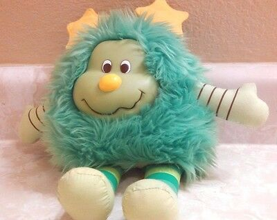"""Rainbow Brite Green Sprite Lucky 10"""" Tall With Attached Butt Tag RN #90347"""