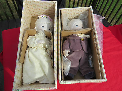 Rare Limited Precious Moments Tammy / Cubby Bride & Groom Dolls in Orig. Boxes