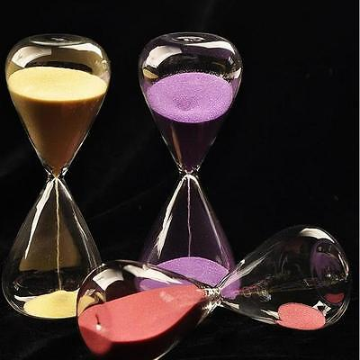 Colorful sand glass sand glass hour glass timer 5/10/30/60 minutes 8 Colors #