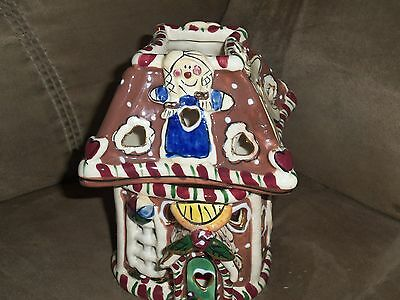 2002 Blue Sky Clayworks Gingerbread HouseTealight Heather Goldminc EC