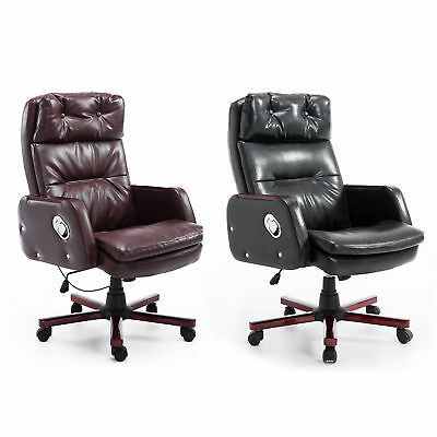 PU Leather Computer Office Chair Adjustable Armrest 360 Degree Ergonomic Design