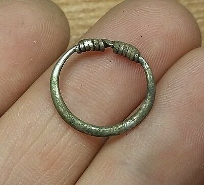 1pc. ANCIENT CELTIC SILVER COILED  RING   #2134 • CAD $49.08