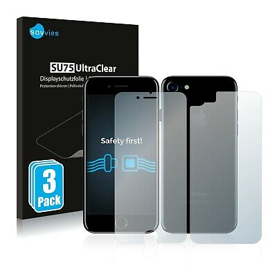 6x Savvies Screen Protector for Apple iPhone 7 (Front + Back) Ultra Clear