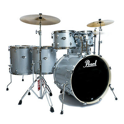 Pearl Export EXX 6pc 22in Kit w/Sabian SBR Cymbals - Arctic Sparkle