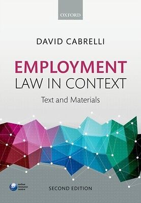 Employment Law in Context (Paperback), Cabrelli, David, 9780198748335