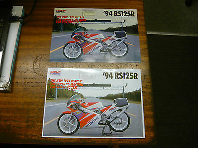 Honda Racing RS 125 R Motorcycle brochure 1994