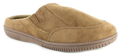 New Mens/Gents Padded Microfibre Mule Style Slip On Slippers UK SIZES