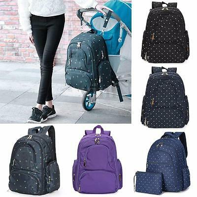 Multifunction Mummy Mother Diaper Nappy Backpack Newborn Baby Pad Changing Bags