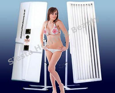 Elite 9 Tube Single Canopy Sunbed with Facial Tubes FREE del to LUTON
