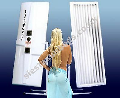 Elite 9 Tube Single Canopy Sunbed with Facial Tubes FREE del to TAMWORTH