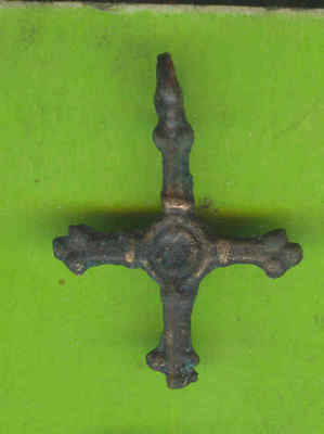 5983 Ancient Viking Bronze Cross Pendant Kievan Russia Ukraine ca 1100 Byzantine