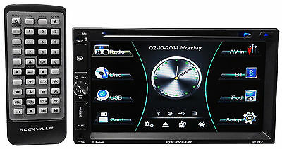 "Rockville RDD7 7"" Car DVD/iPhone/Pandora/Spotify/Bluetooth/USB Player Receiver"