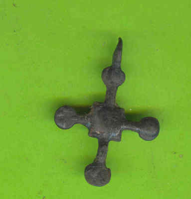5989 Ancient Viking Bronze Cross Pendant Kievan Russia Ukraine ca 1100 Byzantine