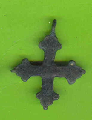 5919 Ancient Viking Bronze Cross Pendant Kievan Russia Ukraine ca 1100 Byzantine