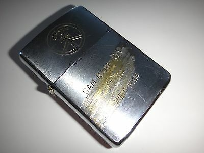 Vintage STOP WAR CAM RANH BAY 67-68 VIETNAM Zippo Lighter *From Vietnam War Era*