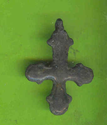 5905 Ancient Viking Bronze Cross Pendant Kievan Russia Ukraine ca 1100 Byzantine