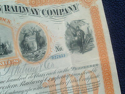 1881 GRAPHIC'S President Sykes,Hamilton,signed Chicago Railway Stock Certificate