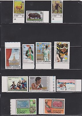 Congo- Lot 1302,  Mint,N H.  including WWF.