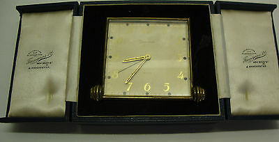 Art deco period cased traveling alarm clock made by Swiza-Luxe 8 day