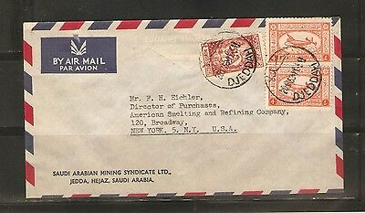 one Saudi Arabian air mail cover from 1953.