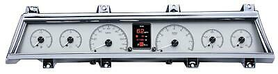 Dakota Digital 66-67 Chevelle El Camino Analog Gauges Silver Alloy HDX-66C-CVL-S