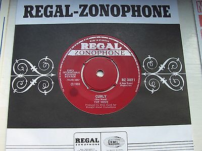 The Move, Curly / This Time Tomorrow. Original 1969 Regal Zonophone Single