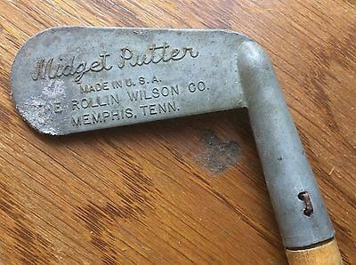Midget Putter Vintage Made In USA The Rollins Wilson Company Memphis Tennessee