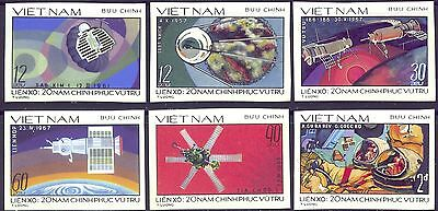 20th Aniv Of Space Exploration Imperf Stamps Of VietNam