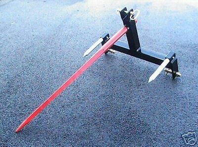 """3 Point Hay Bale Handling Attachment  49"""" Bale Spear  CAT 1-2"""