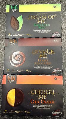 18 x SLIMMING WORLD HIFI BARS LIGHT DOUBLE CHOC,CHOCOLATE ORANGE, DARK CHOC MINT