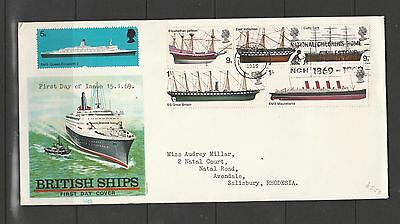 GB FDC 1969 ships, National Childrens home slogan cancel