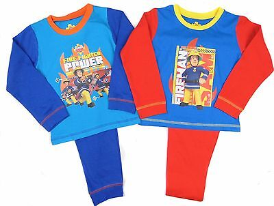 Boys Official Fireman Sam Pyjamas 2 Styles12-18m up to 3-4 Years …
