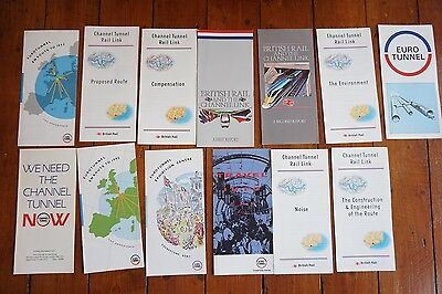 Euro Channel Tunnel Railway Leaflets Publicity Booklets x13 Job Lot