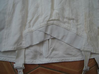 """Vintage White  Corset SIZE 38"""" ON LABEL Made in Britain """" LIBERTY """""""