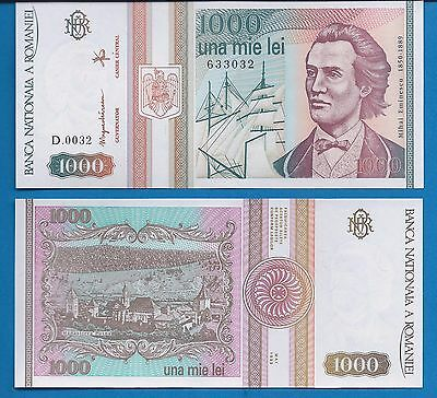 Romania P-102 1000 Lei Year May 1993 Uncirculated Banknote